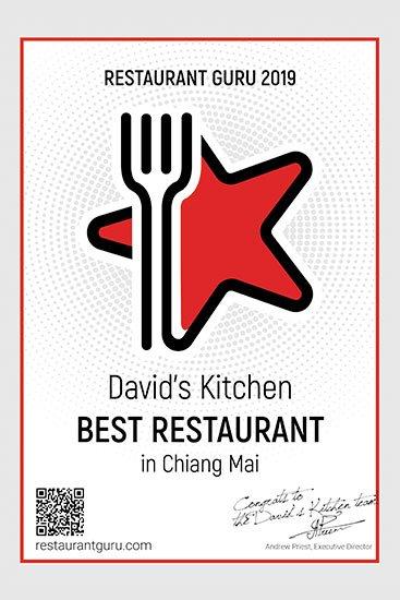 Best Restuarant in Chiang Mai Award 2019.